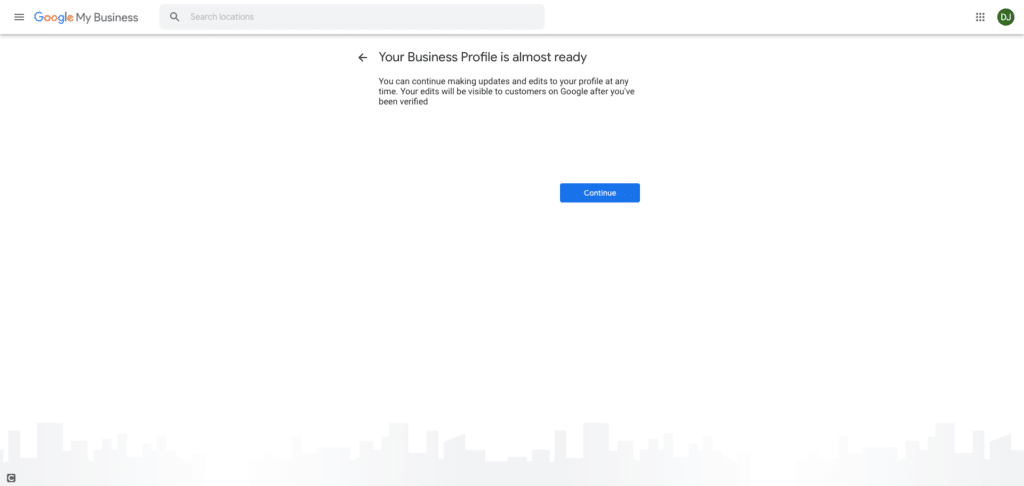Google My Business Screenshot - Your Google My Business Listing is Almost Ready
