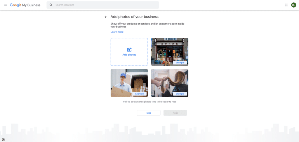Google My Business Screenshot - Add Images &/or Photos to Your Google My Business Listing