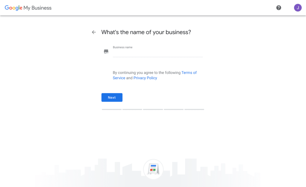 Create a Google My Business Listing - What's the name of your business?